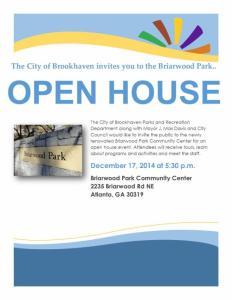 B Park open  house